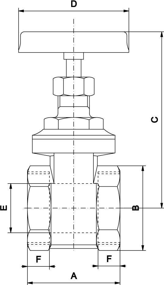 Задвижка латунная муфтовая pу 10 16 арт